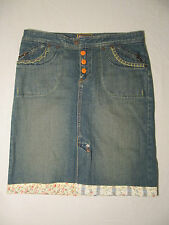 BLUE ASPHALT Denim Blue Jean Skirt Size 5  Measures 32 x 21