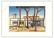Affiche Offset LOUSTAL La pomme d'amour restaurant 50x70 cm
