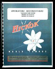 Hickok Ks 15559 L1 Ks 15560 L1 Tube Tester Manual