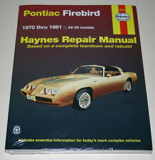 Reparaturanleitung / Repair Manual Pontiac Firebird, Baujahre 1970 - 1981