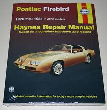 Reparaturanleitung / Repair Manual Pontiac Firebird, Baujahre 1970 - 1981