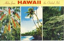 Aloha from HAWAII the Orchid Isle HI postcard