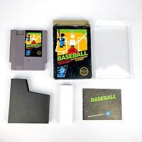 Baseball (Nintendo NES, 1985) CIB - 5 Screw, Black Box w/ Protector, Works!