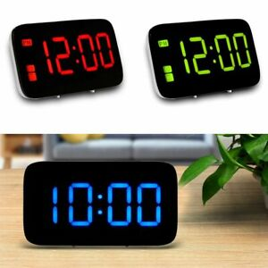 Large LED Digital Desk Alarm Clock Wall Snooze Timer USB/Battery Powered