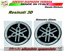 2 Adesivi in resina 3d Yamaha R1 decal stickers diapason per serbatoio R6