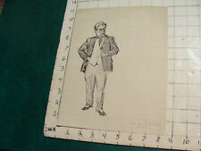 Vintage art: drawing--MAN holding Glasses, copy of C D Gibson 1910 ?? it says
