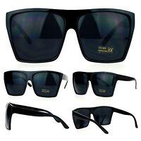 400342c2f92 SA106 Mens Extra Large All Black Mad Dog Gangster Hip Hop Rapper Sunglasses