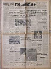 L'Humanité - (7 nov 1946) Vie chère - Episcopat Vichy - Défense laïcité - Tabac