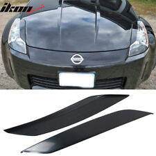 Fit 03-08 Nissan 350Z 2Dr Unpainted Headlight Eyelids Eyebrows Cover - ABS