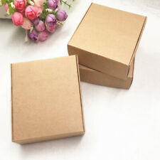 100pcs Kraft Paper Box Nice Kraft Box Packaging Box Small Size Brown M8l1