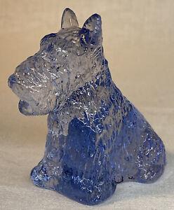 """Boyd Art Glass """" Duke """" Scottie Dog In Purple Valor  # 1   Made 7-23-2002"""