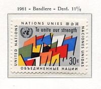 19040) UNITED NATIONS (New York) 1961 MNH** Nuovi** Flags