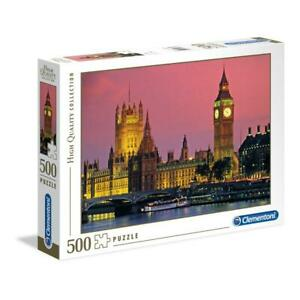 puzzle Clementoni 500 pezzi LONDON HQC High Quality 49x36 30378 + OMAGGIO