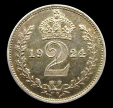 More details for george v 1924 silver maundy twopence - gef