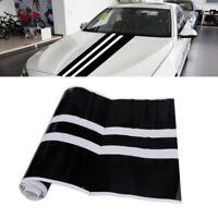 Auto Motorhaube Aufkleber Zierstreifen Racing Vinyl Stripe Dekorstreifen Schwarz