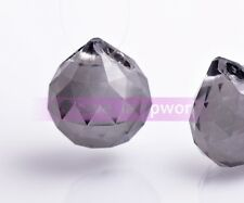 2pcs Charms Teardrop Faceted Crystal Glass Loose Spacer Beads Pendant 22X20mm