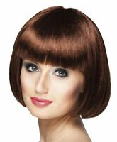 1920s Chocolate Brown Bob Wig Womens Ladies Flapper Gatsby Showgirl Burlesque
