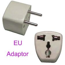 2 Pack Universal Us/Uk/Au to Eu Ac Power Plug Travel Adapter for Most Europe New