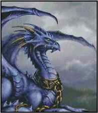 Chained Blue Dragon Counted Cross Stitch Complete Kit No.36-104