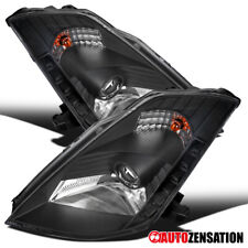Fit 2003-2005 Nissan 350Z Black HID SMD LED DRL Projector Headlights Lamps