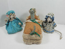 LOT 3 MOUSE MICE ARTS CRAFTS PIN CUSHIONS RETRO DECOR SEWING HOBBIES FARM RANCH