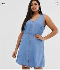 Vero Moda @ Asos BNWT Denim Button Dress 18 Plus Size Nursing Breastfeeding