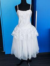 Revolution Dancewear Girls White Sleeveless Ballet Dance Dress Size XL