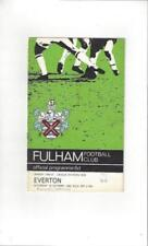 Away Teams C-E Everton Football League Fixture Programmes (1958-1969)