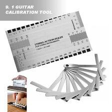 9+1 Guitar Steel String Gauge Ruler Guitar Radius Measuring Tool Luthier Set Us