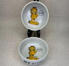 Paws Garfield Cat Food And Water Bowl Set Burp My Bowl Ceramic Water Dog Dish
