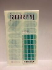 NEW Jamberry Nail Wraps -SIMPLY SWEET Blue Ombre Aqua White Stripe HALF SHEET