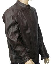 New Men's 100% Real Leather Motorbike/Motorcycle/Brown color JACKET Size-XXL -6