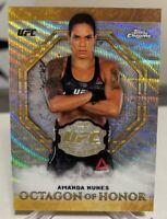 2019 Topps Chrome UFC Amanda Nunes Wave Refractor 99/99 Octagon of Honor