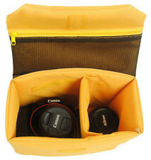 Waterproof Flexible DSLR SLR Camera Bag Insert Partition Padded Cover Case +Clip