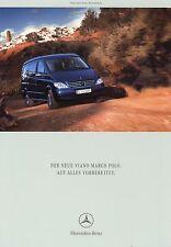 Prospekt Mercedes Benz Viano Marco Polo 3 03 2003 Reisemobil Wohnmobil Camper