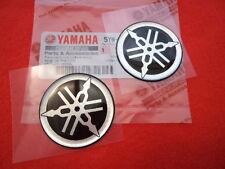 YAMAHA R1 R6 R7 XJR YZF Tank Emblem Badge Gel Decal Sticker SILVER 45MM x 2