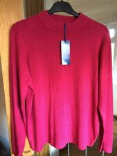 Ladies Rose Red  Long Sleeve Jumper size 20 M&S BNWT