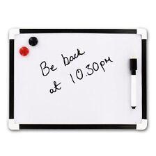 A4 Dry Wipe Magnetic Whiteboard Mini Office Notice Memo White Board UK POST