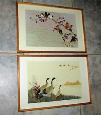 GORGEOUS PAIR SHADOW BOX 3 DIMENTIONAL BIRD PICTURES CANADIAN GEESE & WREN