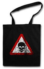 SKULL SIGN SHOPPING BAG Gothic Horror Army Metal Glamour Rock Tribal Tattoo