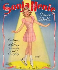 Vintage 1946 Sonja Henie Paper Doll Laser Reproduction~Uncut Lo Price No.1 Sell