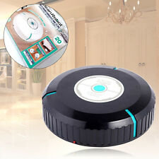 9'' Home Robotic Smart Automatic Vacuum Cleaner Robot Microfiber Mop Dust Black