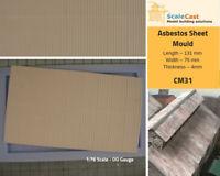 Asbestos roof sheet mould - Model Railway Scenery OO Scale - CM31