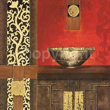 Rossi: Premium Asia Pottery Asien Fertig-Bild 30x30 Wandbild Feng-Shui Asien