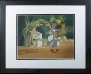Thumper Miss Bunny Bambi Hand Signed Peter Behn Disney COA Framed sericel cel