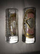 (1)Silver TEQUILA CORRALEJO Embossed Clear Heavy Duty Shot GLASS Man cave Bar