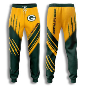 Green Bay Packers 3D Sweatpants Sport Jogging pants Casual Pants fan's gifts