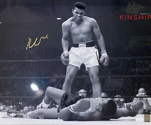 Muhammad Ali signed 16x20 Photo JSA LOA Over Sonny Liston Image Rare Bold B696