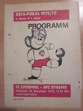 BFC Dynamo - FC Liverpool 72/73