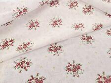 1/2 Yd Floral Quilt Fabric Calico Razzle Dazzle Flowers on Black